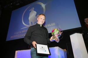 Thomas Deime från Runebergs kvarterskrog tar emot priset för årets sällskapsupplevelse.