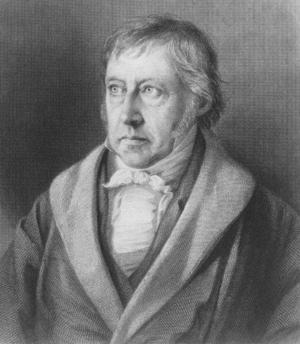 Friedrich Hegel 1831. Porträtt av okänd konstnär.