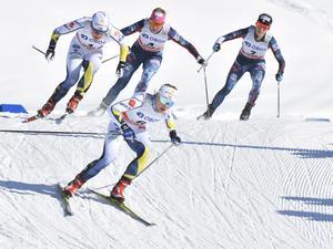 Sundling och Falk under semifinalen.