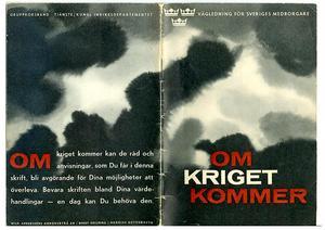 Bild: Försvarsmakten.Det mörka och olycksbådande omslaget till 1961 års broschyr