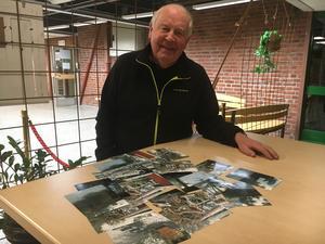 Sven-Olof Gustavsson i Harka var på radiobio på Rodengymnasiet och berättade om hur han drabbats av stormen.