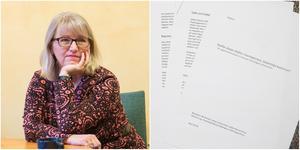 Pia Sjöstrand (S) sitter som ordförande i den nämnd som ansvarar för hemtjänst. Men hon har inte fått ta del av rapporten. Foto: Monika Lysell