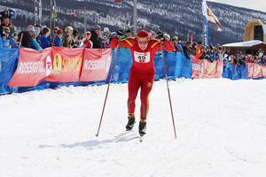 André Larsson, Svegs IK, är en av många skidåkare som brukar tävla under Fjälltopphelgen, här i en tidigare Supersprint.Arkivfoto: Mikael Andersson