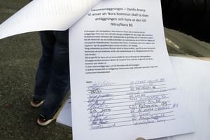 De flesta företagarna och näringsidkarna har skrivit under listan, att rädda isplanen och att kommunen ska ta över.