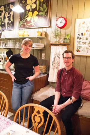 Klara och Stefan har själva planerat och byggt köket.