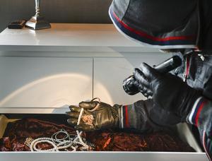Att människor har hållit sig mer hemma kan vara en anledning till att exempelvis stölder minskat. Foto: Anders Wiklund/TT