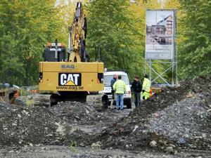 Så här såg det ut när den första delen av Storsjöstrand sanerades hösten 2015. Liknande föroreningar finns även i den andra etappen av exploateringen av området.