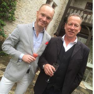 Conny Karlsson med Peder Lamm på slottet. Foto: Privat