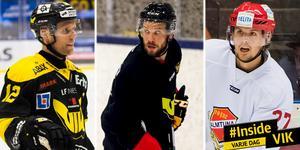 Fredrik Johansson, Kelsey Tessier och Viktor Hertzberg – en hyfsad förstakedja, i alla fall på papperet.