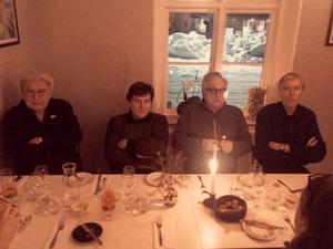 Veteranerna i Contact: Ted Ström, Lorne de Wolfe, Claes Palmqvist och Björn Holmsten.