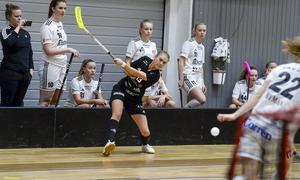 Västra Mälardalen Innebandys poängmaskin Jessica Carlsson. Foto: Stefan Lindgren.