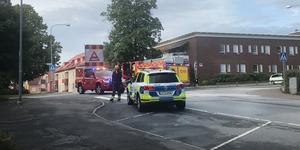Olyckan inträffade i en lugn korsning i centrala Rimbo.