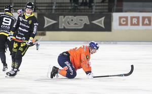 Christoffer Fagerström var väldigt aktiv i andra halvlek och hade sina lägen – framförallt på den straff Bollnäs fick i den tredje tilläggsminuten.