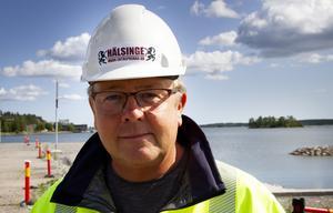 Klas-Åke Sundberg, VD för Hälsinge markentreprenad, är stolt att få bygga infrastrukturen.