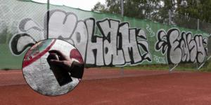 Sandvikens Tennisklubb (STK) utsattes under natten mellan fredag och lördag för skadegörelse. Bilden är ett montage.