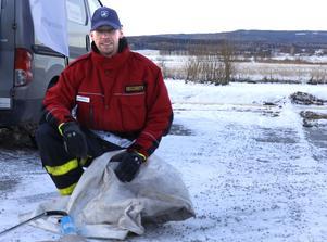 Mattias Svensson är ordförande i föreningen Tysslinge Företagare. Han är en av krafterna bakom den nya vintermarknaden.