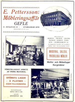 E. Petterssons möbleringsaffärs annons när det begav sig.