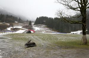 Oberstdorf har tidigare haft problem med snötillgång för tävlingar i Tour de ski i januari. Här en bild från januari 2016.
