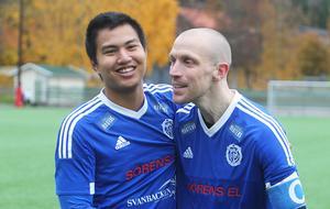 Delsbos starka mittbackar som kompletterar varandra så bra – Gonok Saenchai och lagkapten Niclas Lindh.