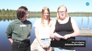 Jonas Eskilsson, Amanda Embretsen och Elin Trygg drog till stranden på svenskan.