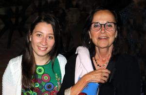 Lama Alshehaby och Anita Goldman efter fredagens sabbatsgudstjänst.