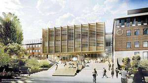 Södertälje Science Park med KTH:s nya lokaler i Snäckviken.Bild: Södertälje Kommun