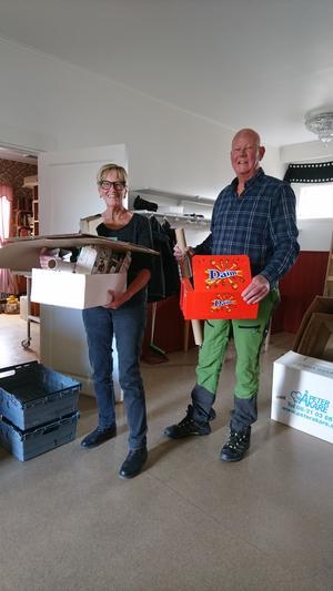 Ruth Dahlberg och Thomas Frithiof är två av volontärerna som ser till att filmfestivalen i Tännäs blir av. Foto: Privat