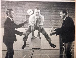Bild från ÖA:s arkiv 31 augusti 1968. Från vänster: Vidar Fahlén, Sven Berglund och Frank Pettersson.