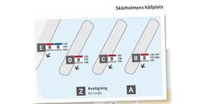 Här går bussarna från Skärholmens busstation.