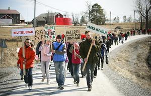 Arkivbild från 2009 när uranjakten var som hetast i Myrviken och demonstrationer och störmöten avlöste varandra.