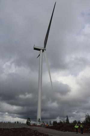 Vindkraftsparken på Orrberget-Stensvedberget kommer att bestå av nio kraftverk. De är 150 meter höga mätt från mark till rotorns högsta punkt.