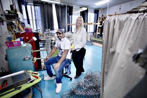 Malin Millfjärd och Jonas Millfjärd, gifta och jobbar i företaget.
