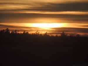 På tisdagen fick man se solen över Söderhamn, det var flera veckor sedan. Foto: Leif Blomqvist