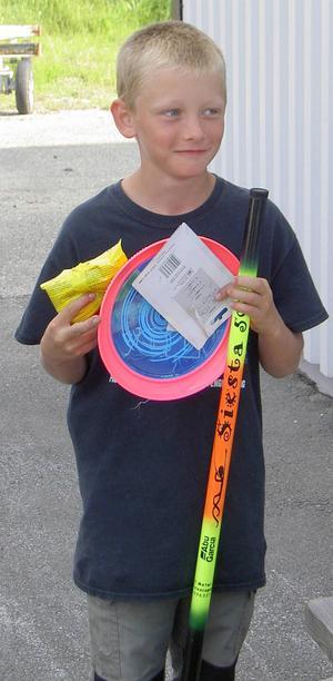 Segrare i barnklassen blev Arvid Einarsson med 765 gram fångad fisk.
