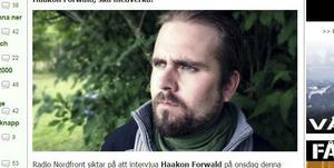 Haakon Forwald, 38, Ludvika.  Leder NMR i Norge.