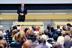 Stockholm i går. USA-valet stod i fokus, men också Sverigedemokraterna kom upp på dagordningen.