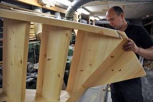 Robert Hag har jobbat med den åttkantiga trappan