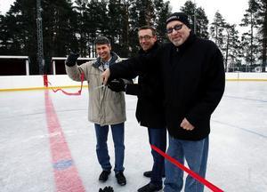 Lars-Erik Återgård, Idrotts- och fritidavdelningen på Sundsvalls kommun, Niklas Larsson från Akzo Nobel och Anders Öhrn från Idrottsförbundets styrelse.