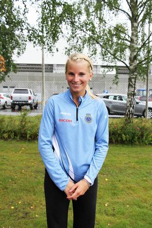Madeleine Nilsson blev tvåa på 12.30 i Gavlehovspelen.