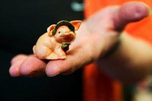 Svea den första grisen i Britt-Maries samling.Foto: Ulrika Andersson