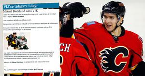 Vänder hem. Mikael Backlund kommer att spela för VIK Hockey under lockouten.