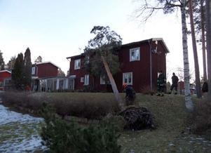 Som tur var skadades ingen person av trädraset.