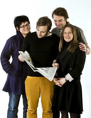 Anette Stannisson, Joakim Johansson, Fredrik Carlsson och Helena Sträng.