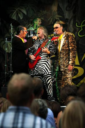 """Även Janne """"Zebran"""" Schaffer fick vara med och sjunga en snutt i konsertens slutskede."""