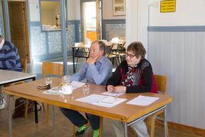 Jerry Harrysson och Inger M Eriksson presenterade sitt medborgarförslag vid kommunfullmäktige i Folkets hus i Fors.