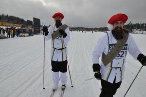 Gustav Vasa 1 och Gustav Vasa 2, eller som de egentligen heter: Peter Nilsson och Björn Mortensen, från livsviktigt.se.