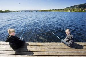 Ludvig Wagenius, till vänster, gillar både att fiska och att äta fisk.