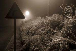 Det var tuffa förhållanden när vintern kom till Kroatien.