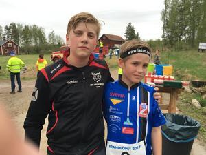 Efter att ha kämpat sida vid sida blev det till slut Tobias Flyckt som lyckades hålla undan före Arvid Eriksson.