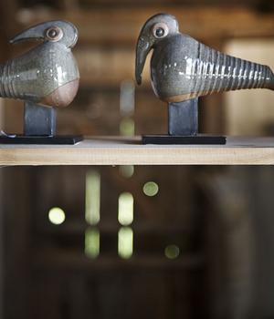 Många fåglar mötte årets besökare i konstnärernas öppna ateljéer.